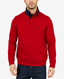Nautica Men's Tech Fleece Half-Snap Pullover