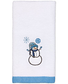Avanti Let It Snow Embroidered Fingertip Towel