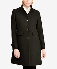 Stand-Collar Single-Breasted Walker Coat