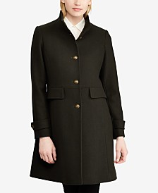 Lauren Ralph Lauren Stand-Collar Single-Breasted Walker Coat