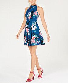 Vince Camuto Floral Halter A-line Dress