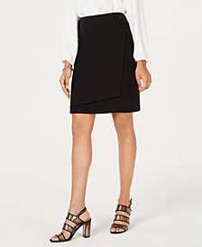 Bar III Faux-Wrap Skirt, Created for Macy's
