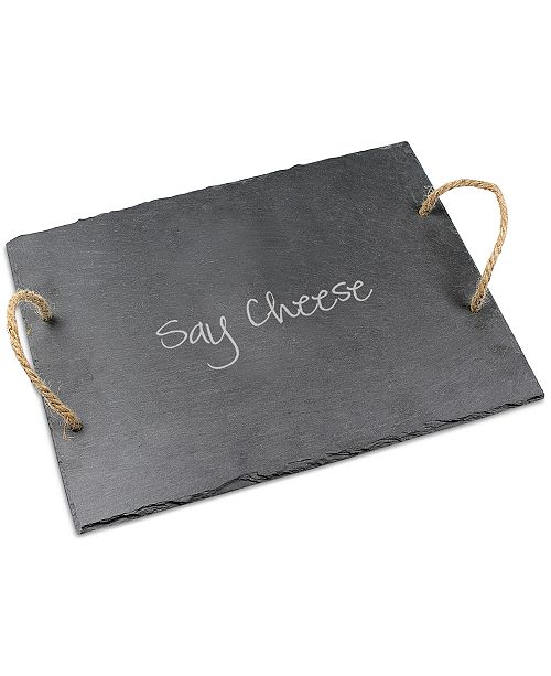 Cathy's Concepts Say Cheese Slate Serving Board