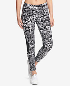 DKNY Sport Graffiti-Print High-Waist Leggings, Created for Macy's
