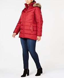 6cf9404aeb6 MICHAEL Michael Kors Plus Size Faux-Fur-Trim Puffer Coat