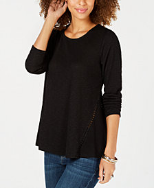 Style & Co Waffle-Knit Top, Created for Macy's