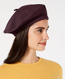 I.N.C. Solid Wool Beret, Created for Macy's