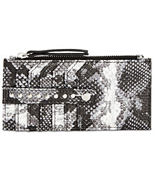 I.N.C. Glam Metallic Printed Card Case, Created for Macy's