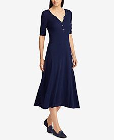 Lauren Ralph Lauren Cotton Fit & Flare Dress