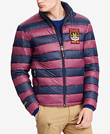 Polo Ralph Lauren Men's Big & Tall Packable Varsity Puffer Jacket