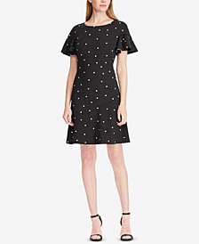 Lauren Ralph Lauren Petite Print Fit & Flare Dress