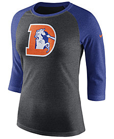 Nike Women's Denver Broncos Historic Logo Raglan T-Shirt