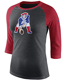 Nike Women's New England Patriots Historic Logo Raglan T-Shirt