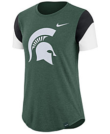 Nike Women's Michigan State Spartans Tri-Blend Fan T-Shirt