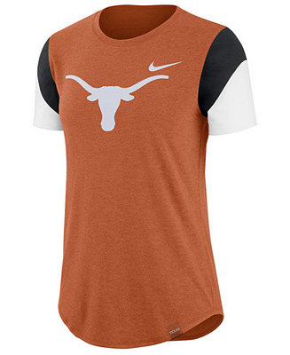 best service 8f831 ddcd0 Nike Women s Texas Longhorns Tri-Blend Fan T-Shirt - Sports Fan Shop By  Lids - Women - Macy s