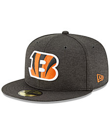 New Era Boys' Cincinnati Bengals On Field Sideline Home 59FIFTY Fitted Cap