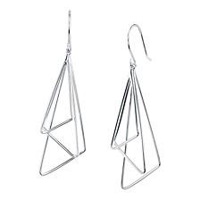 Triple Triangle Drop Earring in Sterling Silver