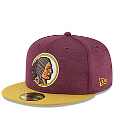New Era Boys' Washington Redskins On Field Sideline Home 59FIFTY FITTED Cap