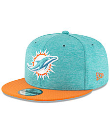 New Era Boys' Miami Dolphins Official Sideline Home 9FIFTY Stretch Fitted Cap 2018