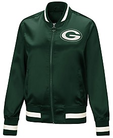 Touch by Alyssa Milano Women's Green Bay Packers Touch Satin Bomber Jacket