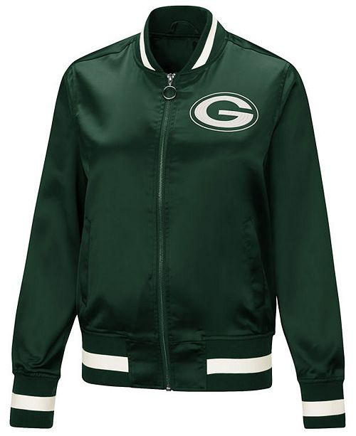 c61f70643 Touch by Alyssa Milano Women's Green Bay Packers Touch Satin Bomber Jacket