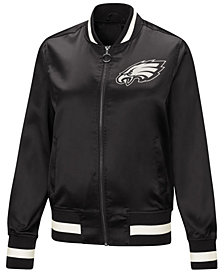G-III Sports Women's Philadelphia Eagles Touch Satin Bomber Jacket