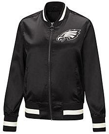 G-III Sports Women's Philadelphia Eagles Touch Satin Bomber Jacket