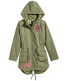 GUESS Big Girls Hooded Cargo Jacket