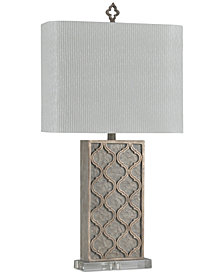 StyleCraft Stone Gray Table Lamp