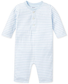 Ralph Lauren Baby Boys Striped Jacquard Coverall