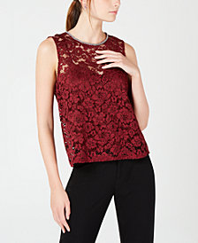 XOXO Juniors' Lace & Chain Top