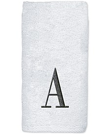Monogram White Embroidered Bath Towel
