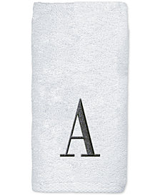 Avanti Monogram White Embroidered Fingertip Towel