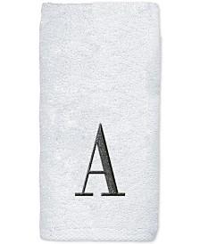 Avanti Monogram White Embroidered Hand Towel