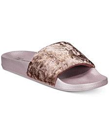 I.N.C. Metallic Velour Slide Slippers, Created for Macy's