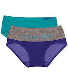 Calvin Klein Little & Big Girls 2-Pk. Seamless Hipster Underwear