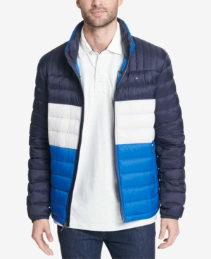2b54b545f Men'S Big & Tall Packable Down Puffer Coat in Royal Blue Combo