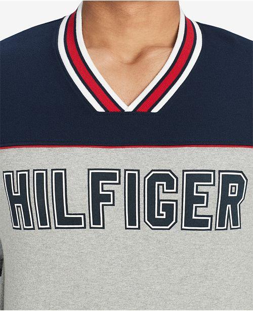 0864170cd50 Tommy Hilfiger Men s V-Neck Hockey Jersey