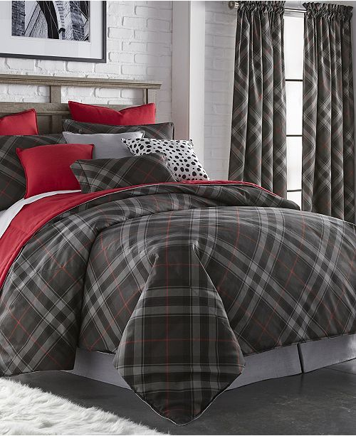 Colcha Linens Max Plaid Comforter Set-Queen