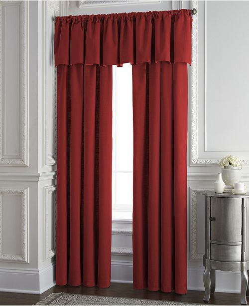 Colcha Linens Cambric Red Tailored Valance