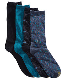Gold Toe 4-Pk. Paisley Crew Socks 5978F