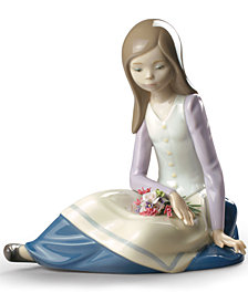 Lladró Contemplative Young Girl Collectible Figurine