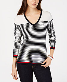 Tommy Hilfiger Cotton Striped Anchor Top