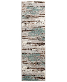 "KM Home Leisure Cove 2'3"" x 7'7"" Runner Area Rug"