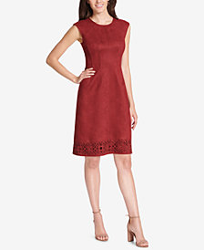 Vince Camuto Cutout Faux-Suede Shift Dress