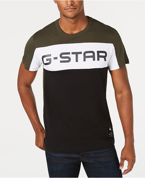 9bf6a80241 G-Star Raw Men s Colorblocked Logo T-Shirt