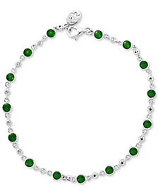 EFFY® Emerald (1-3/4 ct. t.w.) & Diamond (1/6 ct. t.w.) Bracelet in 14k White Gold (Also Available in Sapphire or Ruby)