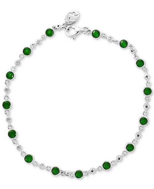EFFY Collection EFFY® Emerald (1-3/4 ct. t.w.) & Diamond (1/6 ct. t.w.) Bracelet in 14k White Gold (Also Available in Sapphire or Ruby)