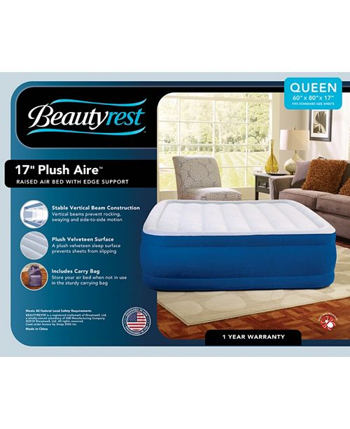 Simmons Beautyrest 17 Inch Plush Aire Queen Size Raised Air Bed