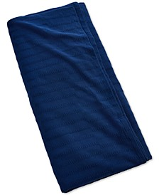 Indigo Cotton Textured King Bed Blanket